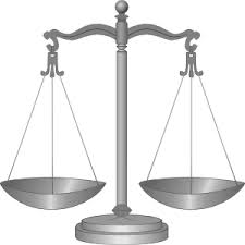 Legal scales balanced